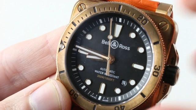 2018 Bell & Ross Instrument BR 03-92 Bronze Diver Ltd. Ed. Br0392 D Bl BR Sca