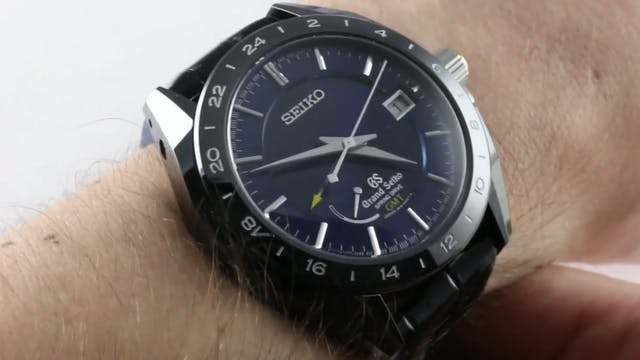 Grand Seiko Spring Drive GMT Black Ce...
