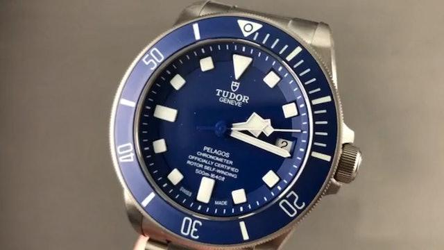Tudor Pelagos Titanium Blue Dial Dive Watch 25600 Review