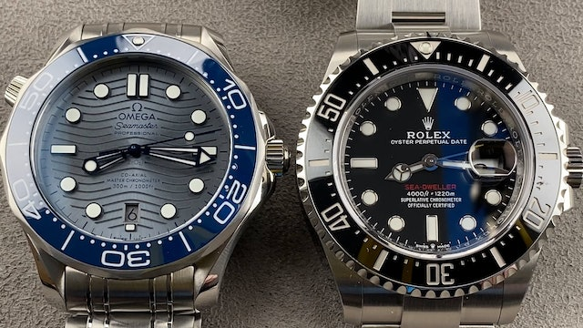 Omega Seamaster vs Rolex Sea Dweller Review, Comparison of Luxury Dive Watches