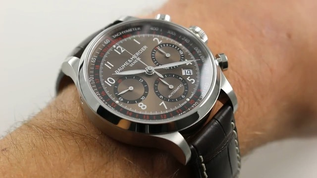 Baume & Mercier Capeland Chronograph Ref. M0A10083 Watch Review