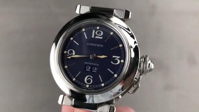 Cartier Pasha C Blue Dial By Gerald Genta W31047M7 Cartier Watch Review