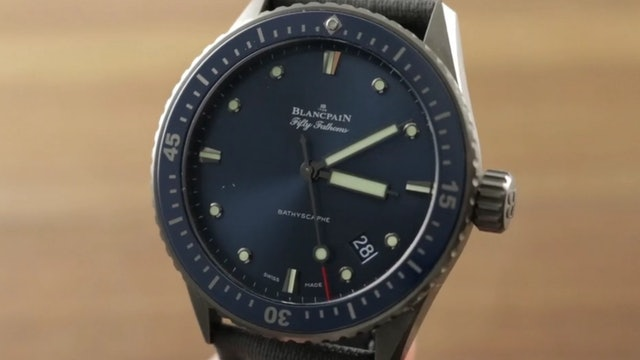 Blancpain Fifty Fathoms Bathyscaphe Ceramic 5000 0240 O52A Dive Watch Review