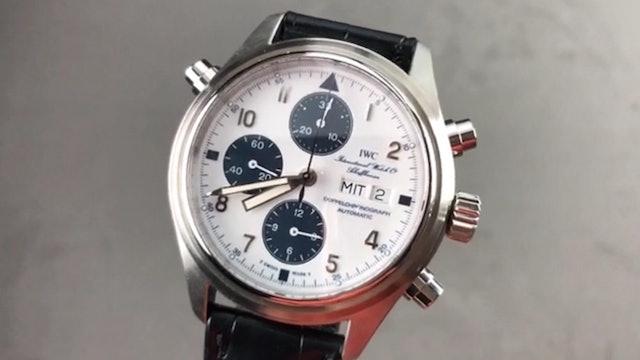 IWC Pilots Watch Double Chronograph Blue Panda Dial IW3713-29 Review