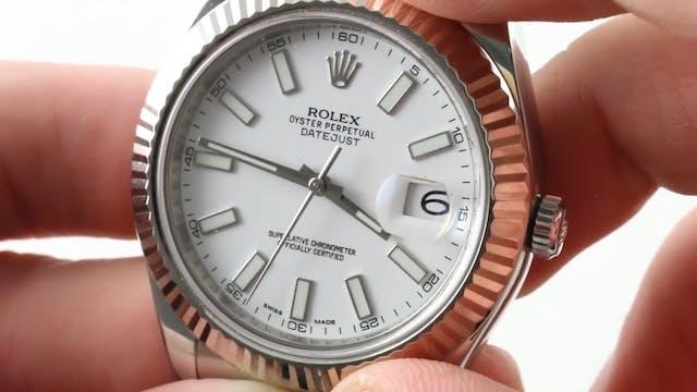 Rolex Datejust II White Rolesor (Stee...