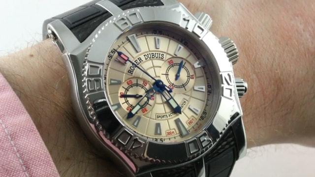 Roger Dubuis Easy Diver Chronograph Salmon Dial (SE46.56.9/12.53) Review