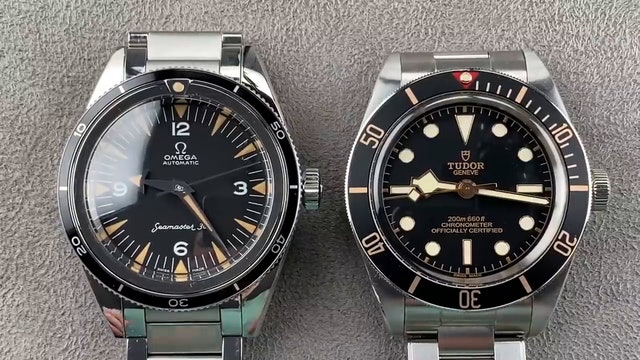 Tudor Black Bay 58 (79030N) Vs. Omega Seamaster 300 1957 (234.10.39.20.01.001)