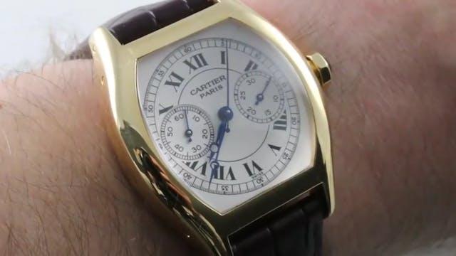 Cartier Tortue Monopusher Chronograph...