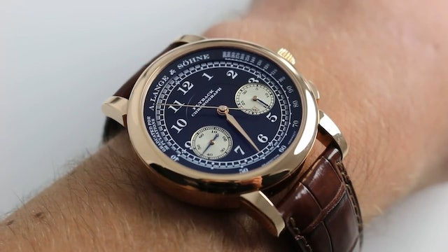 A. Lange & Sohne 1815 Flyback Chronograph 414.026 Watch Review