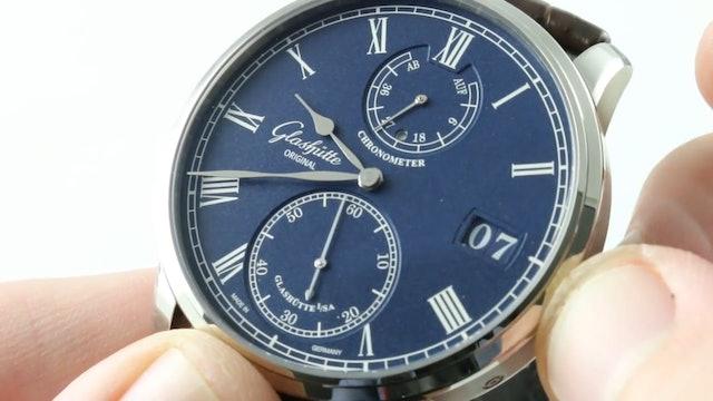 Glashutte Original Senator Chronometer (Blue Dial White Gold) 58 01 05 34 30