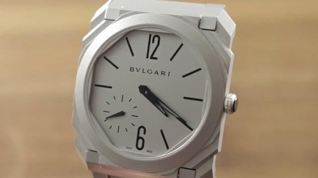 Bulgari Octo Finissimo Stainless Steel Sandblasted 103011 Review