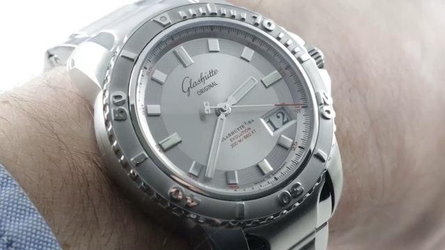 Glashutte Original Sport Evolution Panorama Date Dive Watch 39 42 44 04 14