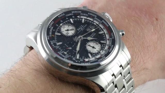 Ball Watch Company Trainmaster Worldwide GMT Chrono Cm2052D Sj Bk