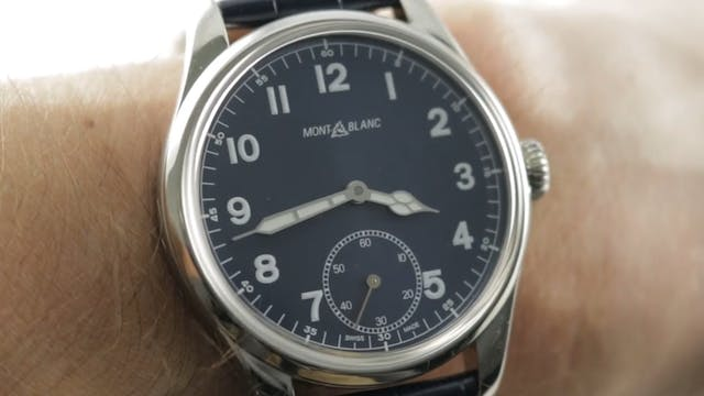 Montblanc 1858 Small Second Blue Dial...