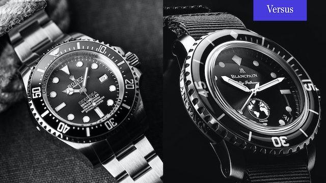 Rolex Deepsea Sea-Dweller vs. Blancpain Fifty Fathoms