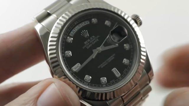 Rolex Day-Date II 41mm (White Gold/Di...