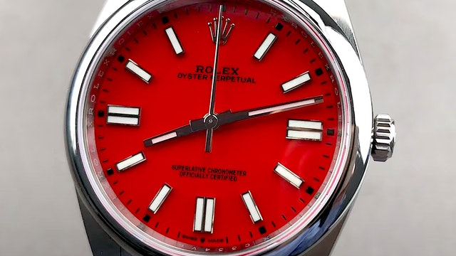 """Rolex Oyster Perpetual """"Coral Red"""" 124300"""