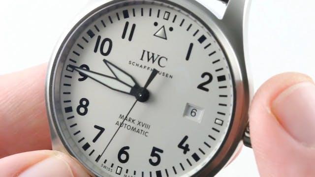 IWC Pilot's Watch Mark XVIII Silver D...
