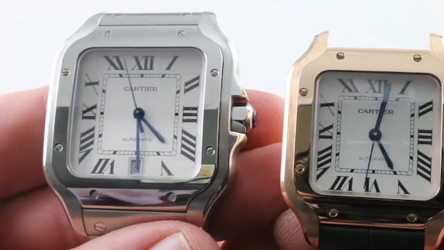 2018 Cartier Santos Medium Rose Gold ...