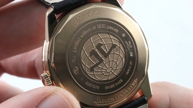 Jaeger Lecoultre Tribute To Geophysic...