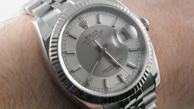 """Rolex Datejust """"Silver Tuxedo Dial"""" R..."""