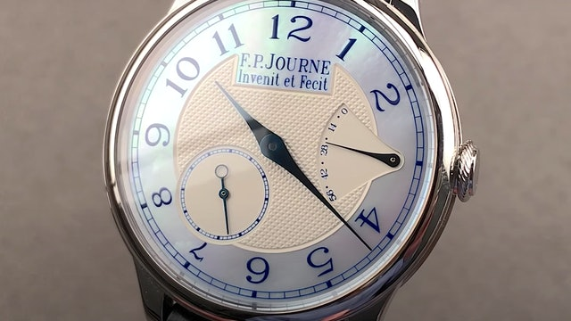 F.P. Journe Chronometre Souverain Nacre Blue Mother of Pearl
