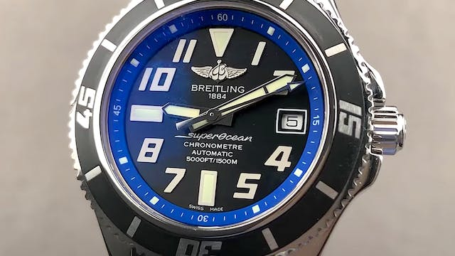 Breitling Superocean Abyss Blue A1736...