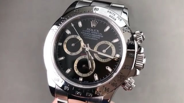 Rolex Daytona Cosmograph Black Dial 1...