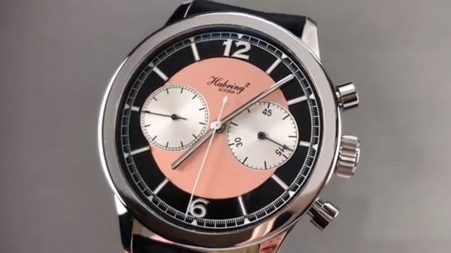 Habring Chronograph Sport Black & Salmon Dial Chrono Sport Habring Watch Review