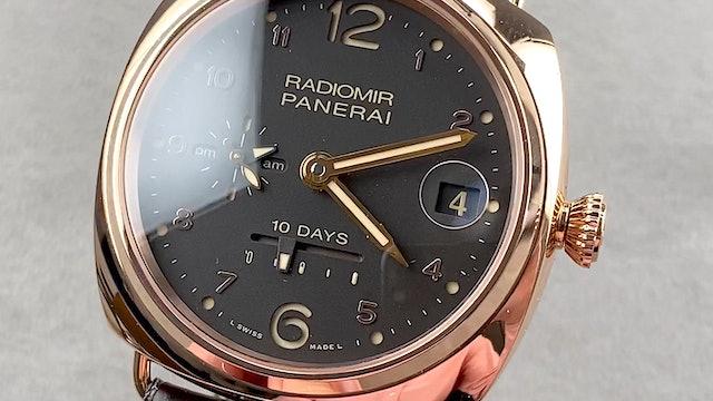 Panerai Radiomir 10 Days GMT Oro Rosso PAM 497