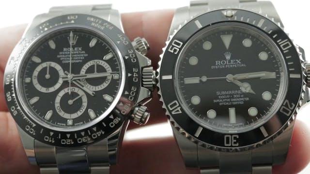 "Rolex Daytona vs Rolex Submariner ""No..."