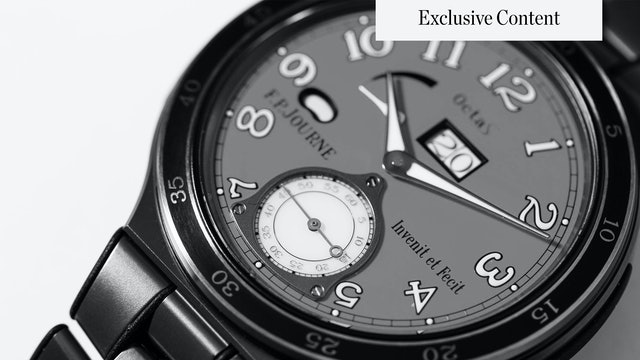 GAME ON   Exploring the F.P. Journe LineSport Collection