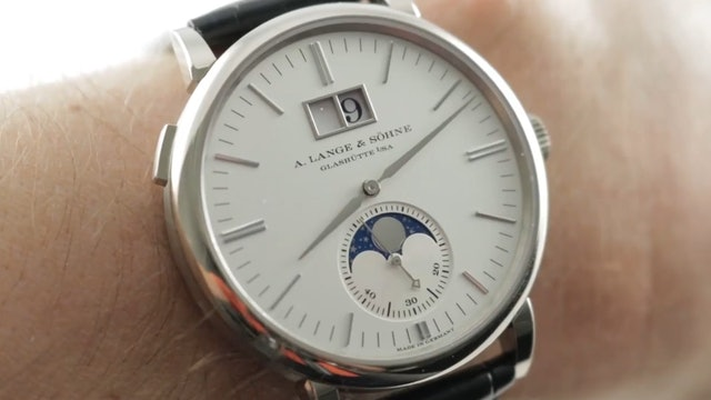 A. Lange & Sohne Saxonia Moon Phase (384.026) Review
