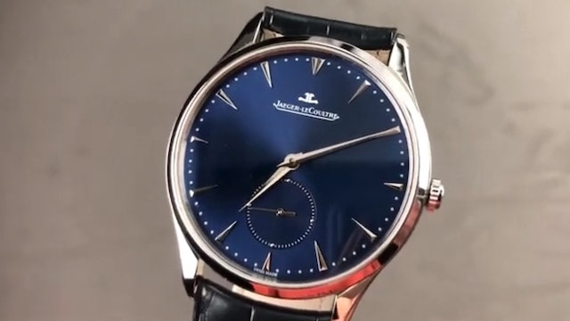 Jaeger Lecoultre Master Ultra Thin Small Second Blue Dial Q1358480 Review
