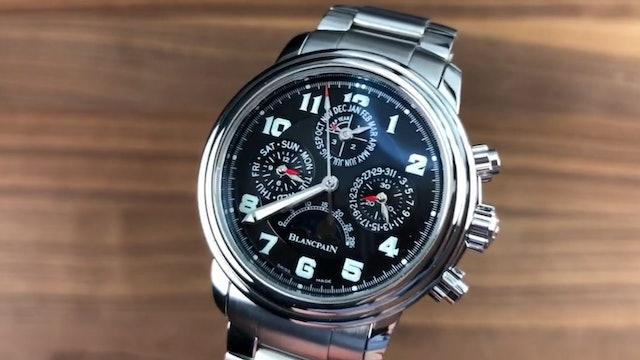 Blancpain Leman Flyback Perpetual Calendar 2585F 1140 71 Blancpain Watch Review