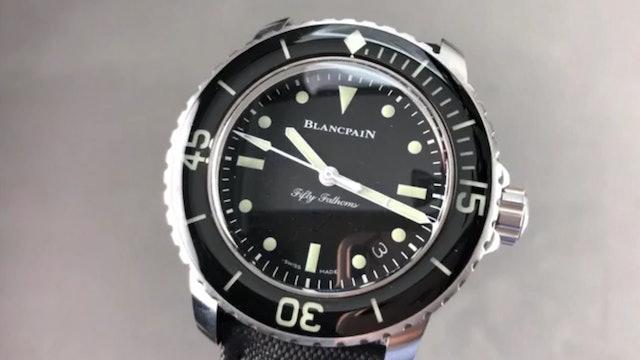 Blancpain Fifty Fathoms Nageurs De Combat Automatic Dive Watch 5015E 1130 B52A