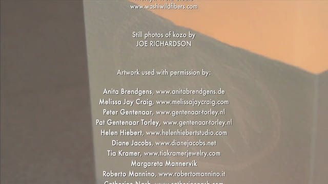 Papermaker's Studio Guide, End Credits