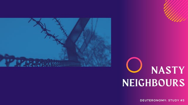 These Are The Words: Nasty Neighbours...