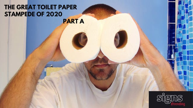 Signs #Trending: Toilet Paper Stamped...