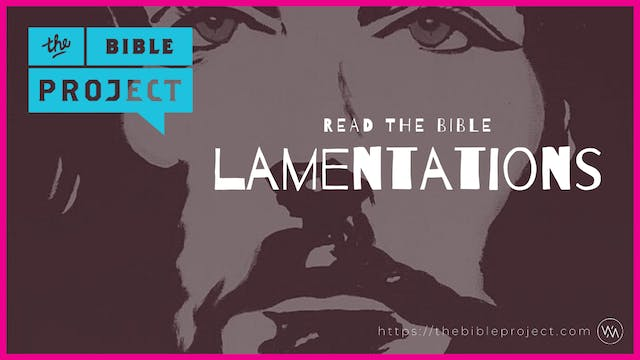 The book of Lamentations Overview.