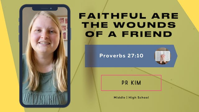 Faithful Are The Wounds Of A Friend -...