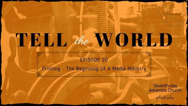 Printing - The Beginning of a Media Ministry