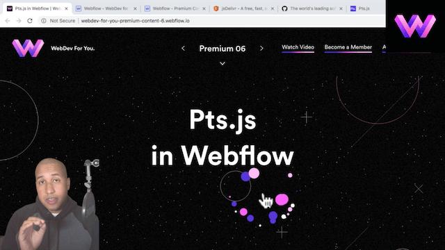 Pts.js Script in Webflow