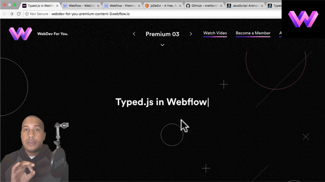 Typed.js Script in Webflow