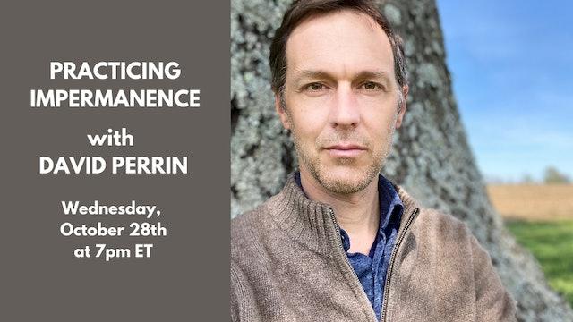 Live Talk: David Perrin—October 28th, 2020