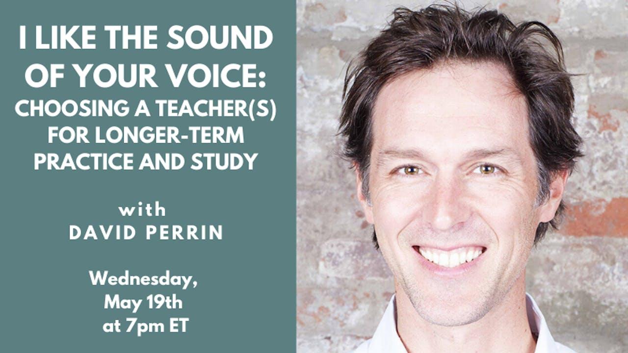 Recorded Talk: David Perrin (05.19.21)