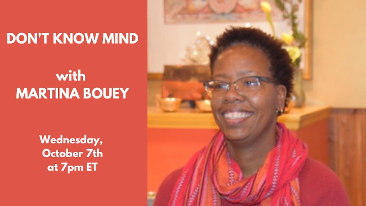Recorded Talk: Martina Bouey—October 7th, 2020