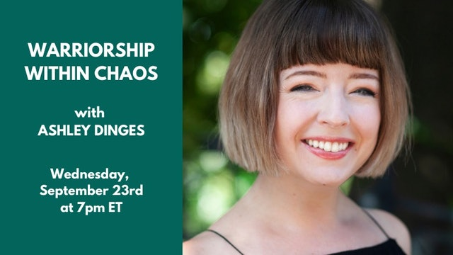 Live Talk: Ashley Dinges - Sept. 23rd, 2020
