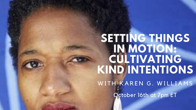 October 16th, 2019: Dr. Karen G. Williams