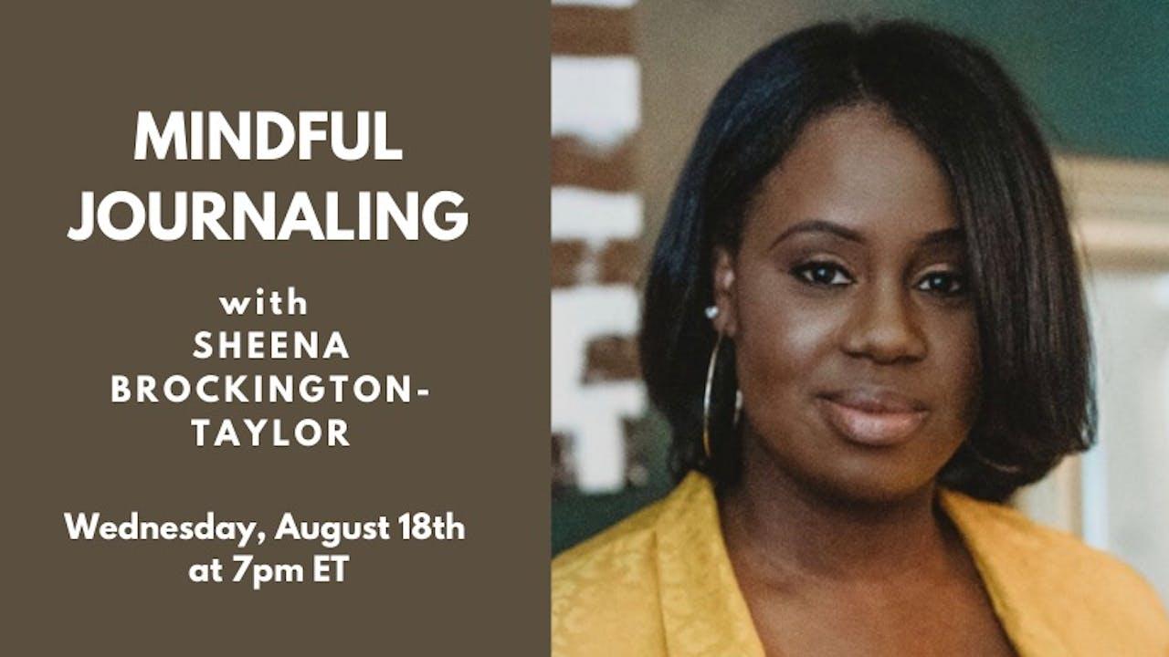Mindful Journaling with Sheena Brockington-Taylor